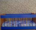 سرير اطفال هزاز مستعمل بحالة ممتازة للبيع